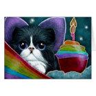 FAIRY CAT WITH BIRTHDAY CUPCAKE CUSTOMIZE CARD