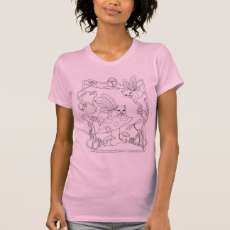 Fairy Cats N Mushroom T-Shirt
