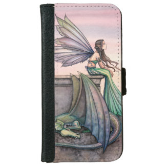 Fairy Dragon Fantasy Art Illustration iPhone 6 Wallet Case