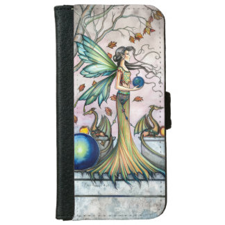 Fairy Dragons Fantasy Art Illustration iPhone 6 Wallet Case