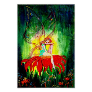 FAIRY DREAMING ON THE FLOWER POSTERS