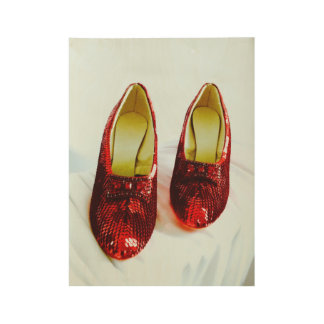 Fairy-Dust Shoes Ruby Slippers poster! Wood Poster