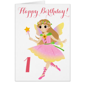 Fairy First Birthday Card