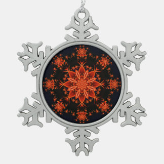 Fairy flower dance pewter snowflake decoration
