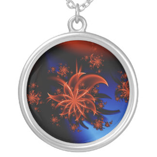 Fairy flower silver plated necklace