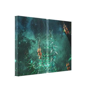 Fairy Flowers in the Jade Moonlight Canvas Print