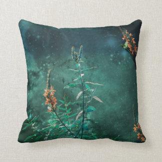 Fairy Flowers in the Jade Moonlight Cushion