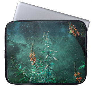 Fairy Flowers in the Jade Moonlight Laptop Sleeve