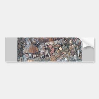 Fairy Folk Fantasy Painting Bumper Sticker