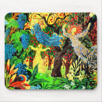 fairy folk people in the forest mouse pad