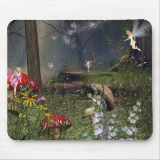 Fairy forest mouse pad