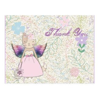 Fairy Fox with a magic wand Thank You card