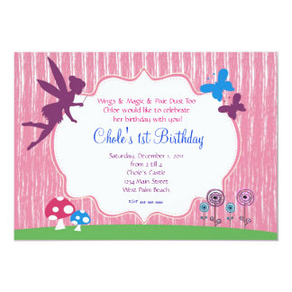 Fairy Garden Birthday Invitation