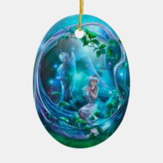 Fairy - Girly Digital Art Ceramic Ornament