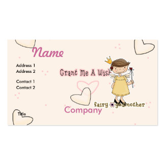 Fairy Godmother Double-Sided Standard Business Cards (Pack Of 100)