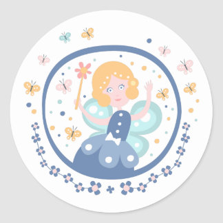 Fairy Godmother Fairy Tale Character Classic Round Sticker
