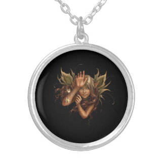 FAIRY GREETING SILVER PLATED NECKLACE