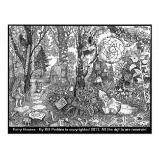 Fairy Houses Postcard