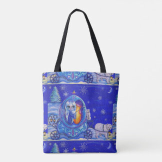 Fairy in Bubble Carriage Pulled by Polar Bears Tote Bag