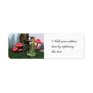 Fairy in Woodland Return Address Label