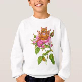 Fairy Kitten Resting in Rose Sweatshirt