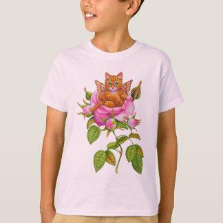 Fairy Kitten Resting in Rose T-Shirt