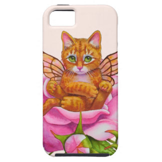Fairy Kitten Resting in Rose Tough iPhone 5 Case