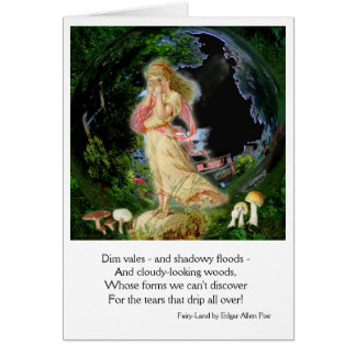 Fairy Land Halloween Fantasy Greeting Card