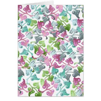 Fairy Leaf Pattern Greeting Card