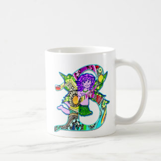 Fairy Letter B with Personalized Name Coffee Mug
