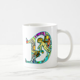 Fairy Letter D with Personalized Name Coffee Mug