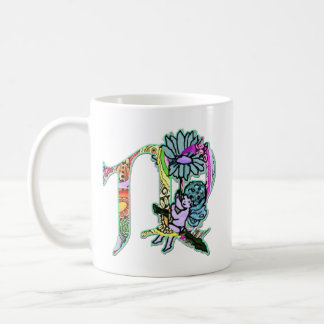 Fairy Letter M with personalized name Coffee Mug