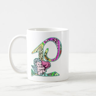 Fairy Letter P with personalized name Coffee Mug