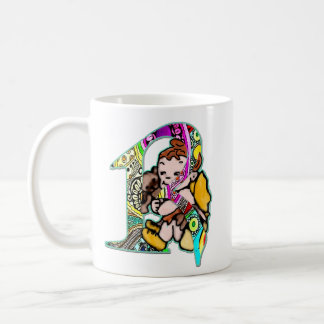 Fairy Letter R with personalized name Coffee Mug