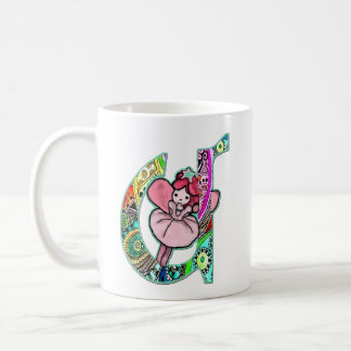 Fairy Letter U with personalized name Coffee Mug