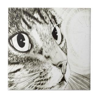 Fairy Light Tabby Cat Fantasy Art Tile