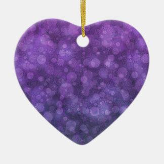 Fairy Lights II Ceramic Heart Decoration