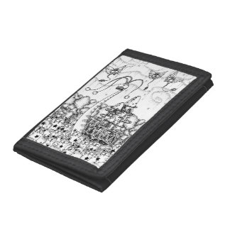 Fairy living forest trifold wallet