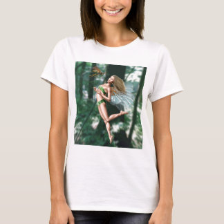 Fairy meeting wasp in woods T-Shirt