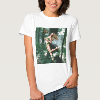 Fairy meeting wasp in woods t shirts