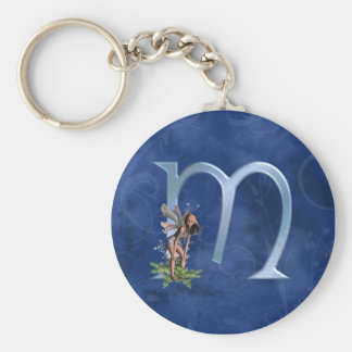 Fairy Monogram M Key Ring