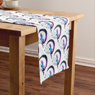 Fairy Moon Stars Purple Short Table Runner