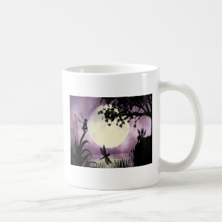 Fairy moonlit pond mug