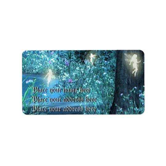 fairy night address lables address label