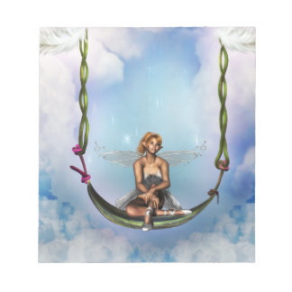 Fairy on a Swing Notepad