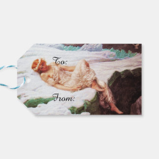 Fairy on Snowy Mountain or Heart of Snow Gift Tags