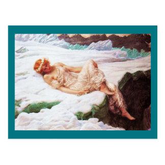 Fairy on Snowy Mountain or Heart of Snow Postcard