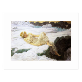 Fairy on Snowy Mountaintop Postcard
