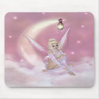 Fairy on the Moon - Fantasy Mousepad
