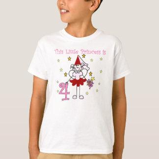 Fairy Princess 4th Birthday T-Shirt